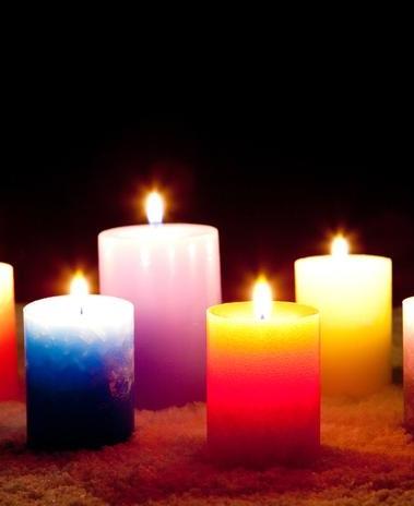 Simpatia, velas coloridas