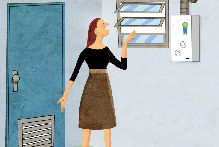 Ventilação e localização do aquecedor. Essas são algumas orientações dos especialistas para as casas que fazer uso do equipamento