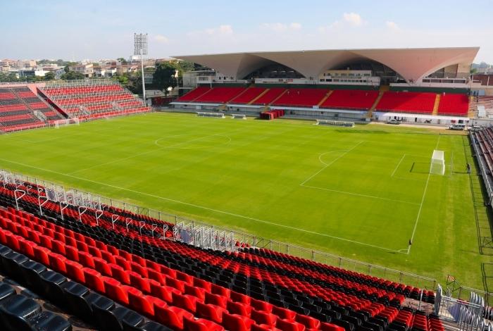 Estádio do Flamengo, conhecido como Ilha do Urubu, no bairro da Ilha do Governador, Zona Norte do Rio.