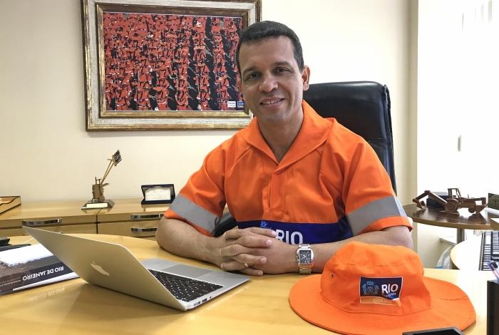 Rubens Teixeira, presidente da Comlurb