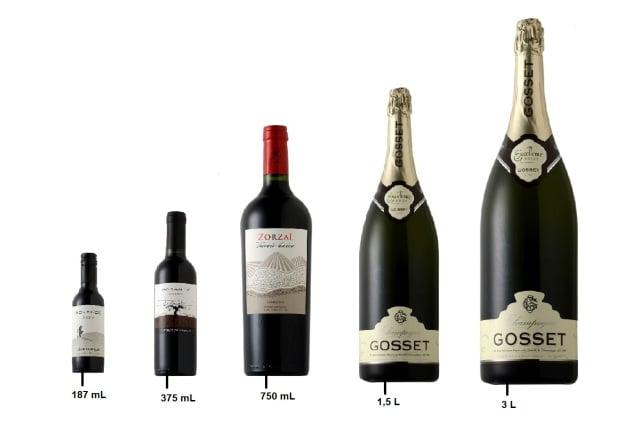 Coluna Vinho sem Mistério - Diferentes tamanhos de vinho