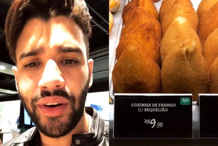 Gusttavo Lima reclama do preço da coxinha