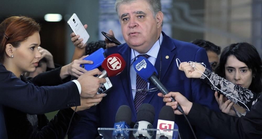 Deputado Carlos Marun (PMDB - MS) concede entrevista