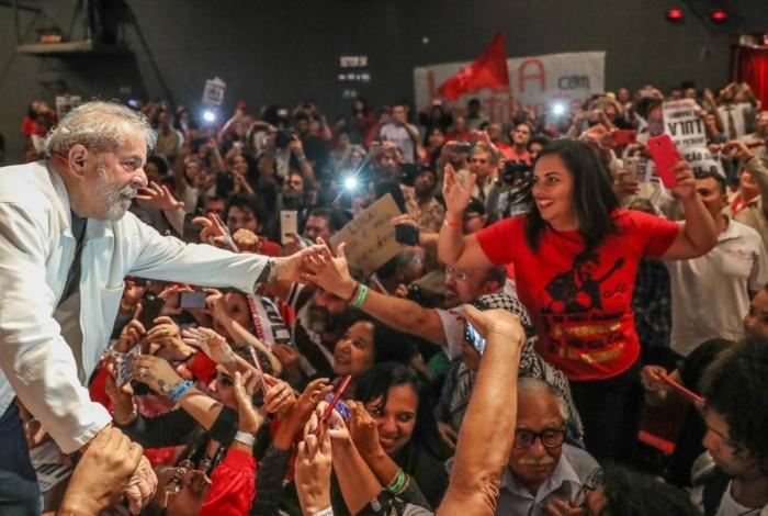 Lula se defende em ato do PT