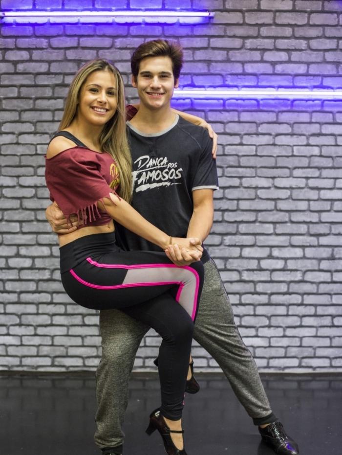 Nicolas Prattes e Mayara no 'Dança dos Famosos', do 'Domingão do Faustão'