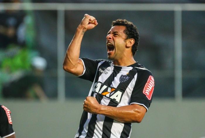 Fred, atacante Atlético-MG, em jogo contra o Joinville