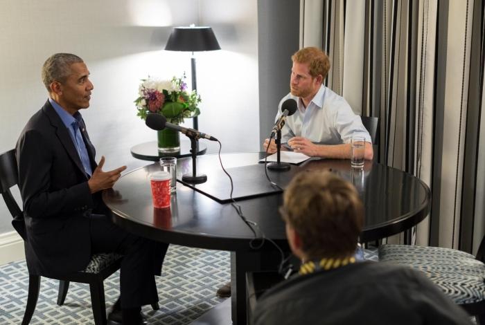 Obama em entrevista ao príncipe Harry para a Rádio 4 da BBC