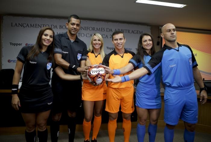 A Federação do Rio apresentou ontem os uniformes dos árbitros e a bola oficial do Cariocão-2018