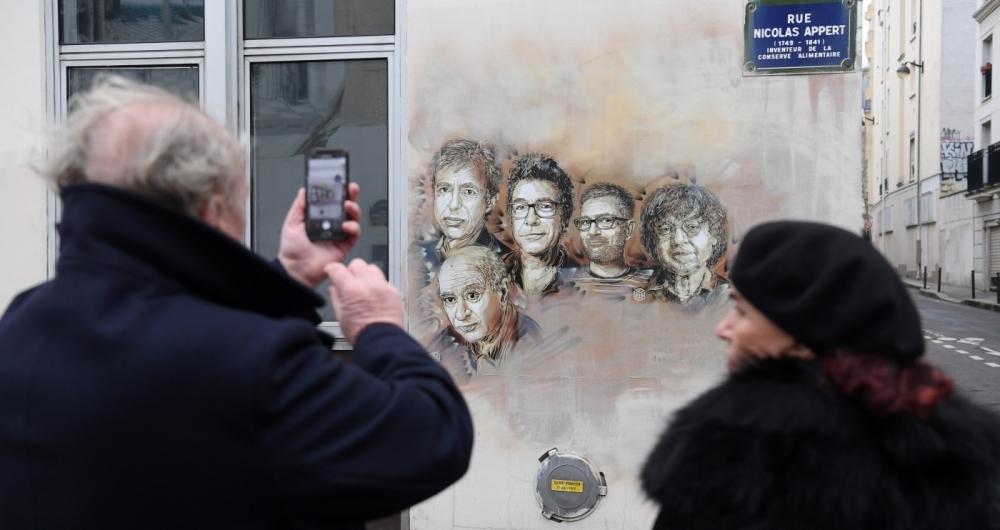 A Fran�a homenageou ontem as v�timas do ataque terrorista contra a revista Charlie Hebdo, em 2015, quando 11 pessoas foram assassinadas.