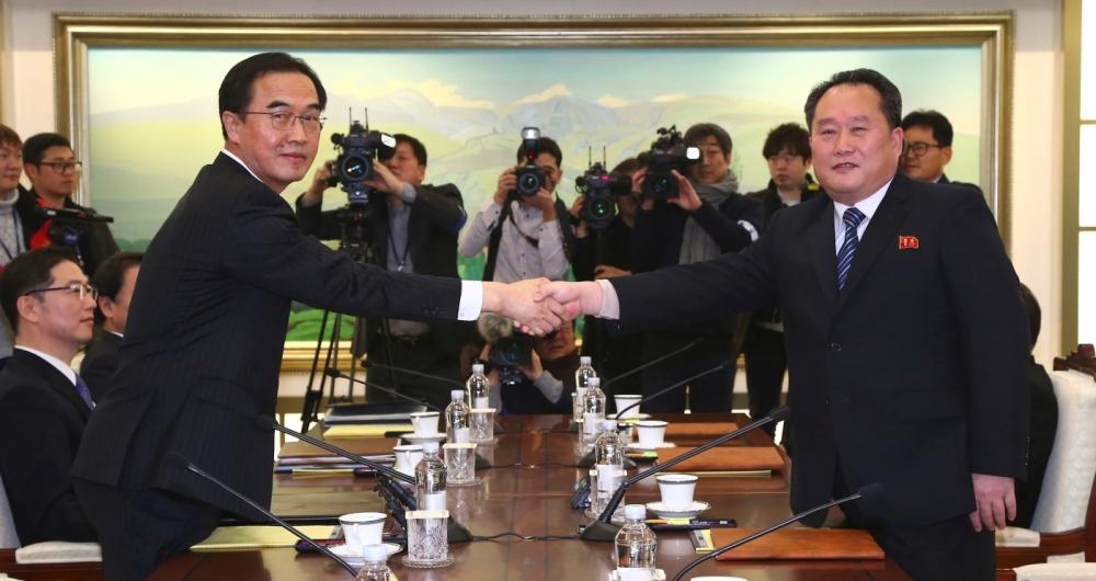 Líderes dos dois países quando selaram acordo dos Jogos olímpicos de Inverno