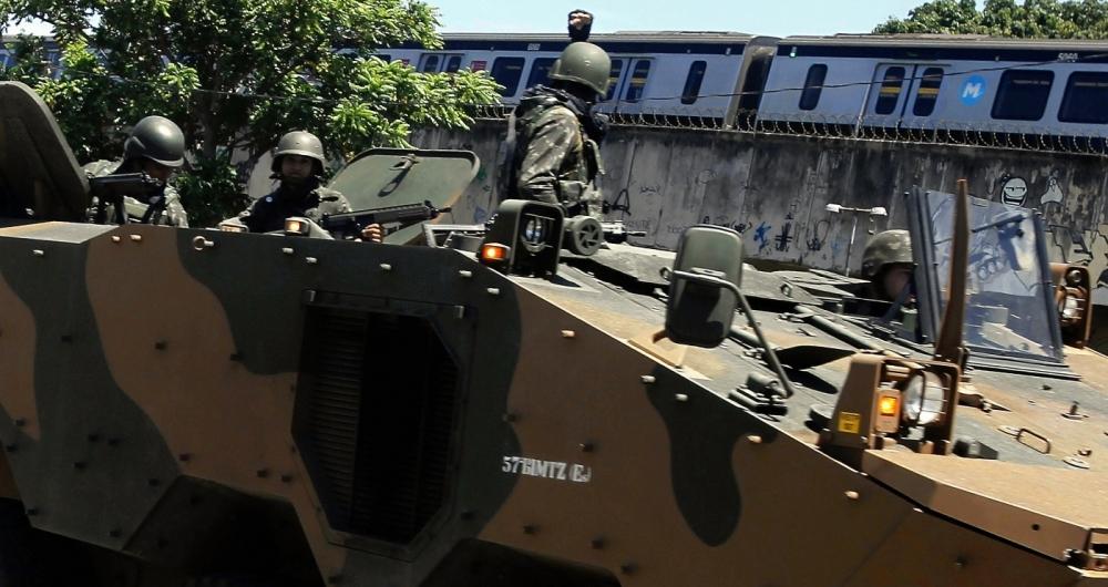 Forças armadas no Jacarezinho Zona Norte do Rio, no ano passado