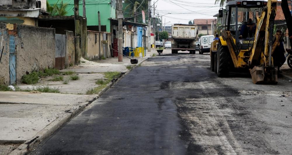 22/01/2018 - ESPECIAL BAIXADA - A rua Luciano em Santa Elias em nova igua�u em obras para o recapiamento. Foto: Luciano Belford / Agencia O Dia