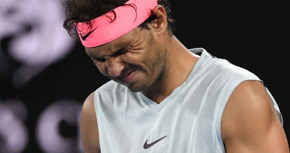 Rafael Nadal foi derrotado no Aberto da Austrália