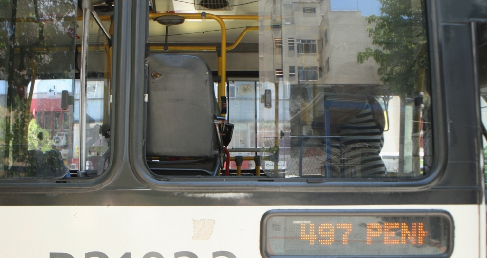 Na foto, ônibus da linha 497. Funcionários da Viação VG fazem paralisação nesta sexta-feira (26)