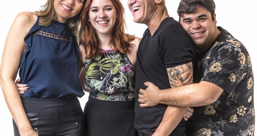 Eva, Ana Clara, Ayrton e Jorge, da fam�lia Lima, no 'BBB'