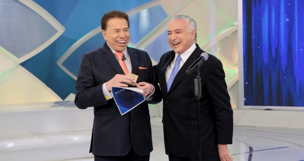 Silvio Santos e Michel Temer