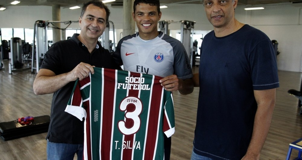 Recentemente, Thiago Silva visitou o Fluminense