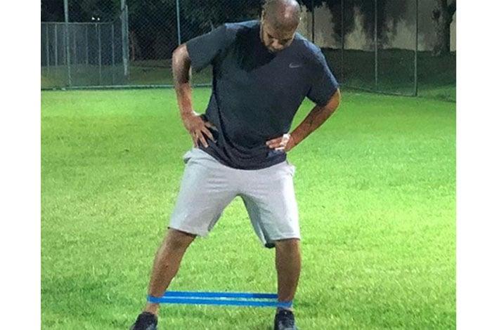 Adriano postou vídeos treinando