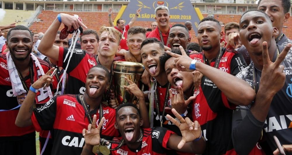 Flamengo campe�o da Copa S�o Paulo de Juniores.