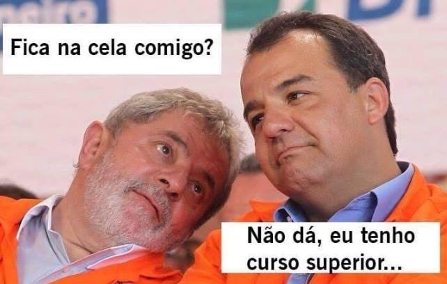 Parceria de Lula com Cabral, preso na Lava Jato, foi lembrada em meme