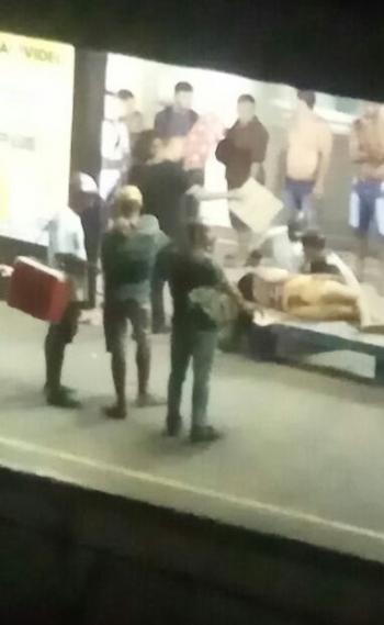 Mulher baleada em estação de trem foi levada para o Hospital da Posse