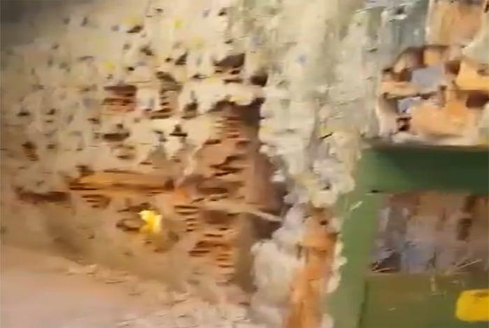 V�deo mostra cen�rio de destrui��o ap�s confrontos na Rocinha