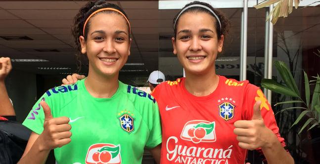 Stefane e Andressa são as gêmeas da Seleção