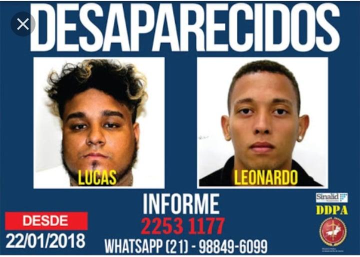 Jovem desapareceram após irem à comunidade Camarista Méier