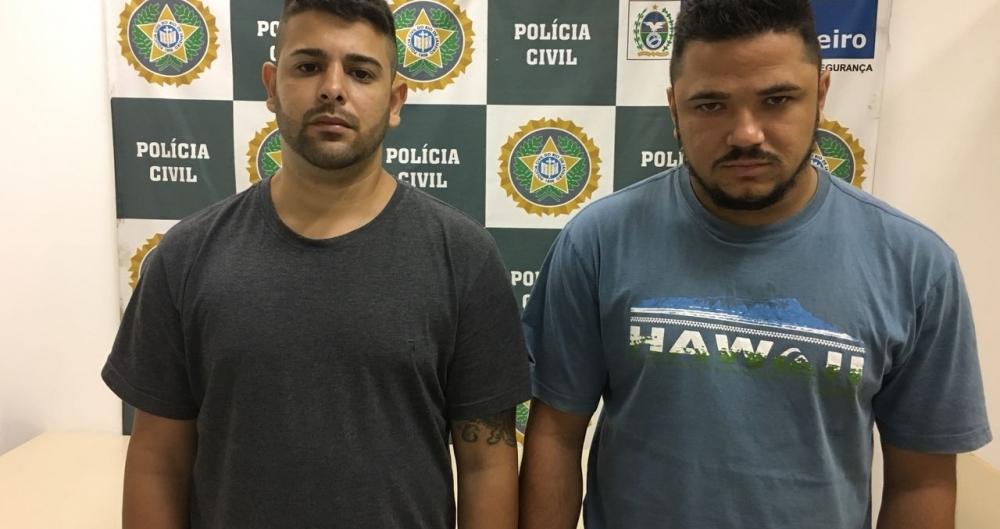 Mailon dos Santos Linhares e Leandro Luiz Corrêa de Jesus, dupla traficante do Salgueiro