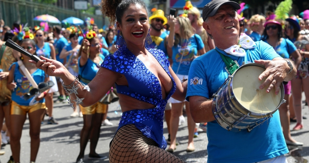 Rio, 28/01/2018 - Carnaval de Rua - Bloco Me Esquece desfila no Jardim Bot�nico. Foto Fernando Maia/FOTOPRESS
