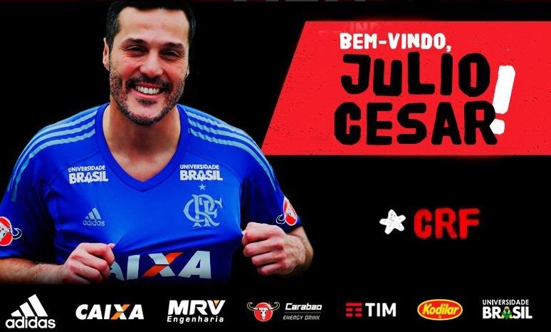 Julio Cesar foi anunciado pelo Flamengo