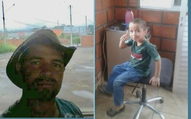 Magno Ferreira e o filho de 4 anos