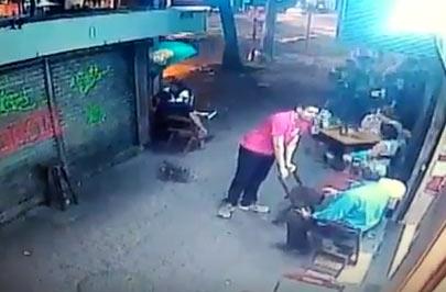 V�deo mostra correria momentos antes de gar�om ser morto na Tijuca