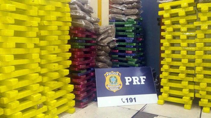 PRF apreende 600 kg de maconha