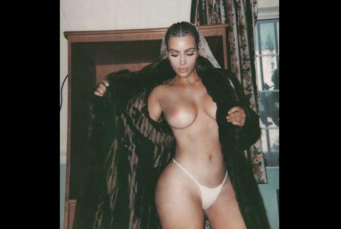 Kim Kardashian posta sequ�ncia de fotos sensuais no Instagram