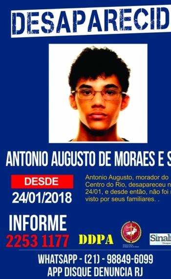 Jovem est� desaparecido desde o dia 24 de janeiro