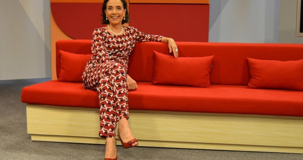 Vera Barroso, apresentadora do 'Sem Censura', na TV Brasil