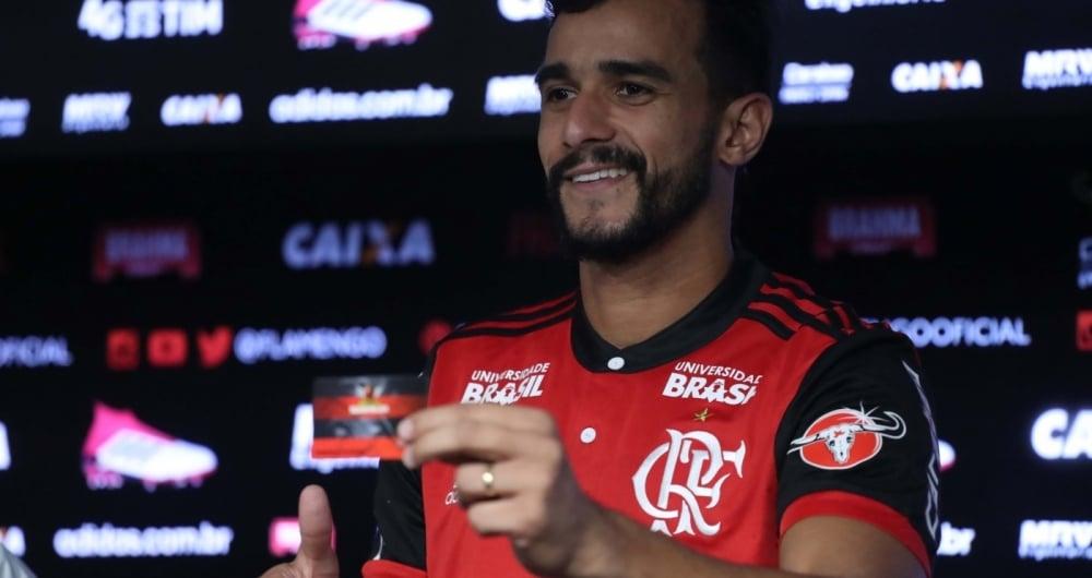 Apresenta��o do Henrique Dourado no Flamengo - 01/02/2018