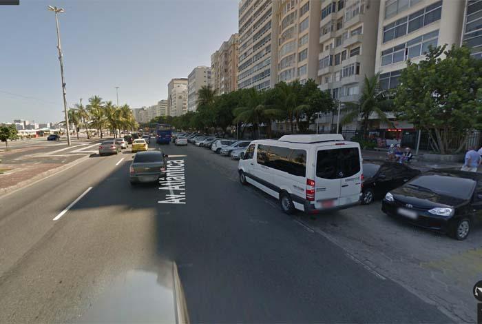 Idosa foi atropelada na Avenida Atl�ntica, em Copacabana