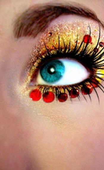 Sa�de no Carnaval. Gliter. Boca, olhos.
