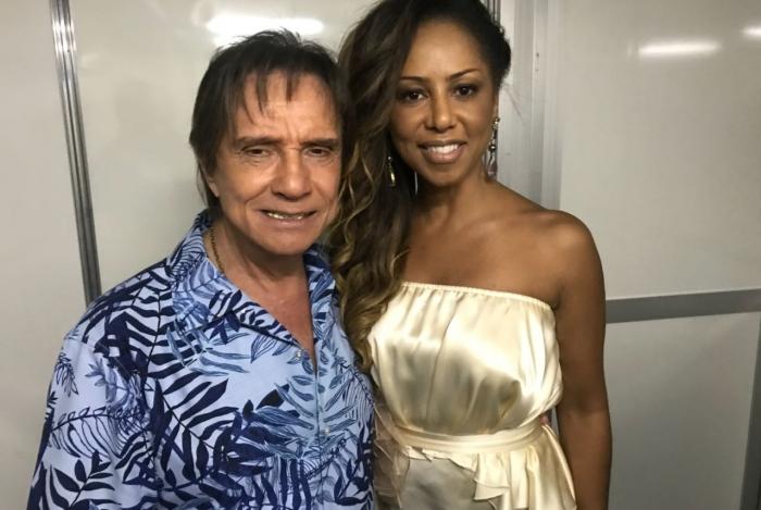 Valeria Valenssa com Roberto Carlos