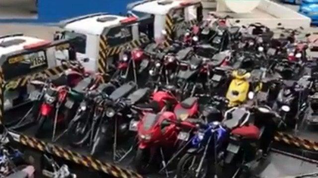 Polícia apreende 104 motocicletas em operação na Zona Oeste