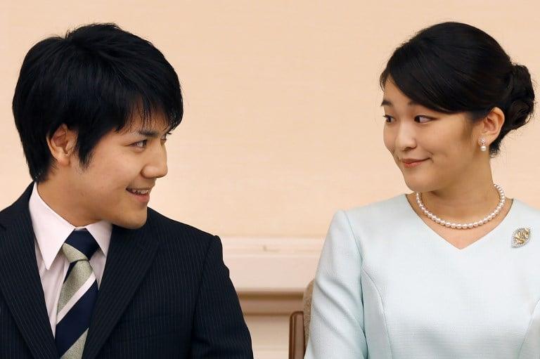 A princesa Mako e Kei Komuro