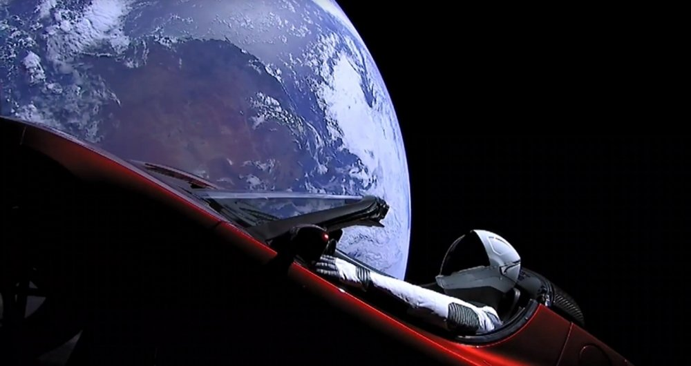This still image taken from a SpaceX livestream video shows