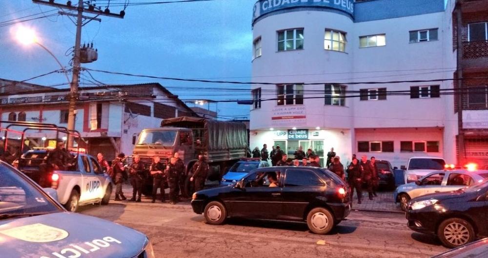 Operação de forças de segurança acontece na Cidade de Deus e outras comunidades do Rio