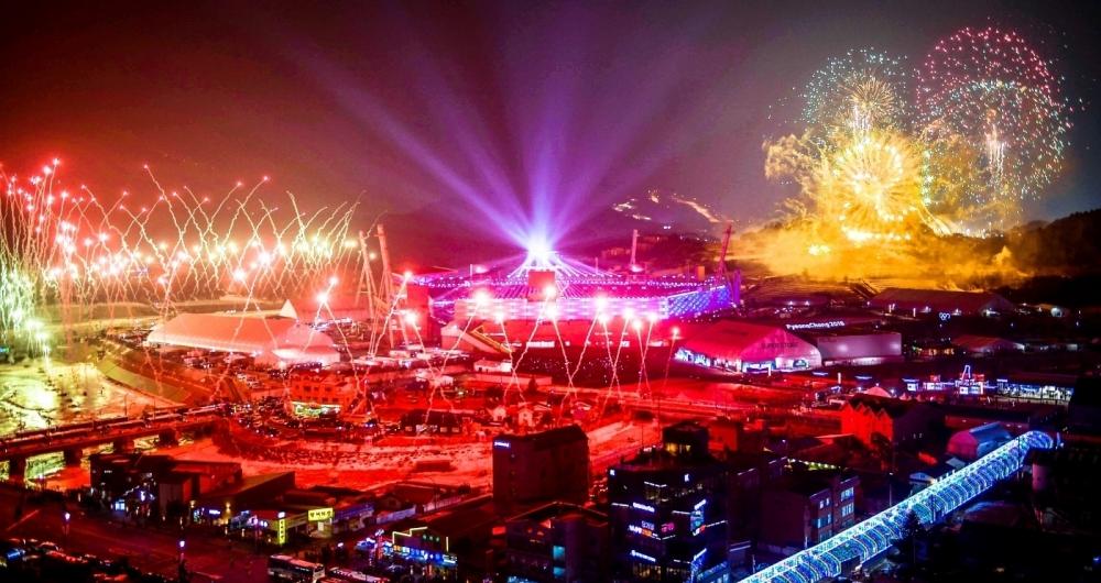 Cerim�nia de abertura dos Jogos Ol�mpicos de Inverno