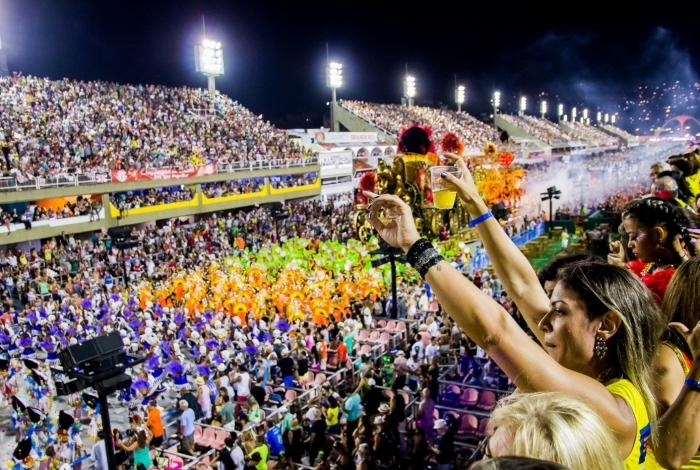 Carnaval 2018 - Desfile das Escolas de Samba do Grupo A na Marques de Sapucaí. Camarote do Jornal O Dia Foto William dos Santos / Projetos Especiais o Dia
