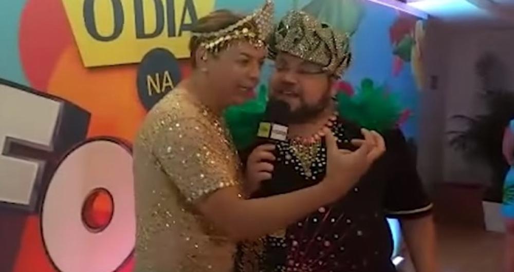 David Brazil e Rodrigo Teixeira no Camarote O Dia