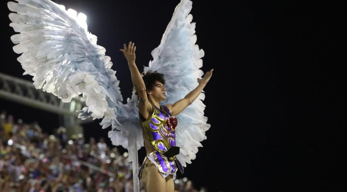 Tijuca foi a primeira escola a desfilar nesta segunda de Carnaval