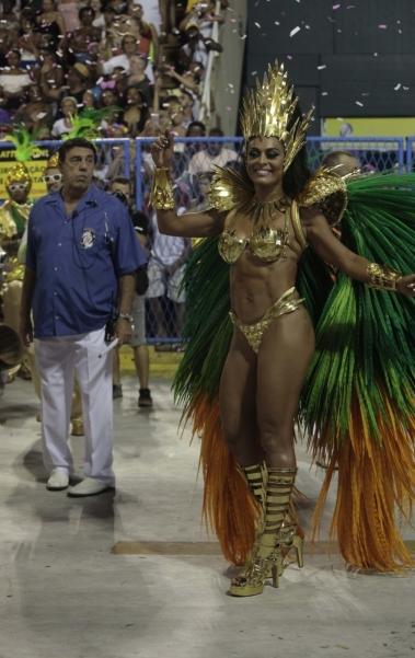 Juliana Paes, como Rainha de Bateria da Grande Rio